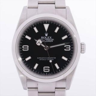 ロレックス(ROLEX)のロレックス エクスプローラーⅠ SS×社外革   メンズ 腕時計(腕時計(アナログ))
