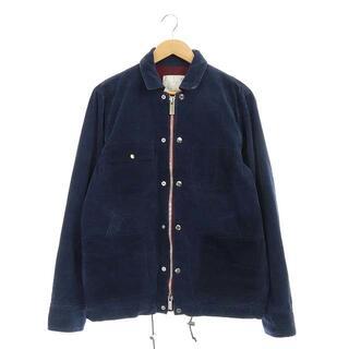 サカイ(sacai)のサカイ コーデュロイジャケット スナップボタンデザイン 1 紺(ブルゾン)