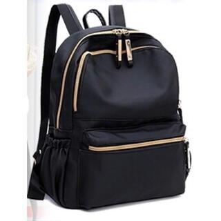 レディース リュック マザーズバッグ シンプル プチプラ 大容量 黒 ブラック