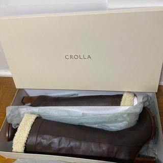 クローラ(CROLLA)のCROLLA クローラ BRボア2wayロングブーツ  牛革 アクアガール(ブーツ)