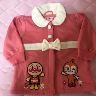 アンパンマン(アンパンマン)の美品 アンパンマン ドキンちゃん コート 起毛 80cm ピンク リボン(ジャケット/コート)
