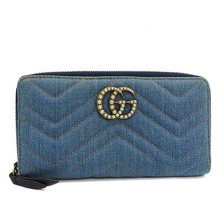 グッチ(Gucci)のグッチ  長財布  GGマーモント ジップアラウンドウォレット 4431(財布)