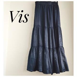 ヴィス(ViS)の【Vis】ビス ネイビースカート(ロングスカート)