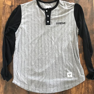 Supreme - シュプリーム ヘンリーネック ベースボール Tシャツ