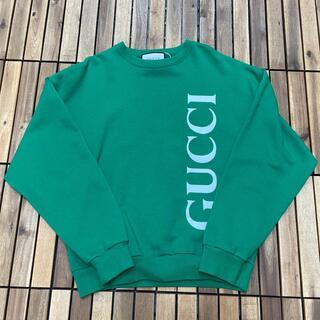 グッチ(Gucci)のGucci Logo Sweatshirt スウェットトレーナー グリーン 緑M(スウェット)