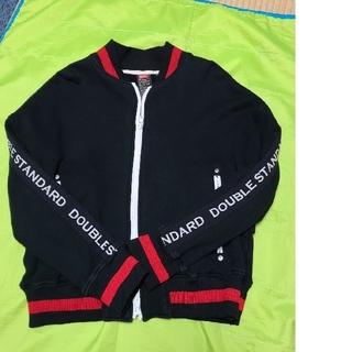 ダブルスタンダードクロージング(DOUBLE STANDARD CLOTHING)のダブルスタンダード、黒ジップアップスエット(トレーナー/スウェット)