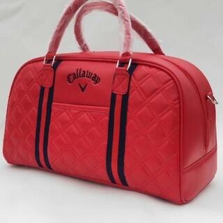 キャロウェイ(Callaway)の新品 キャロウェイ 防水PU ボストンバッグ ゴルフ服バッグ 赤い(バッグ)