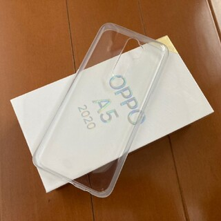 OPPO - oppo a5 2020純正 付属品 クリア tpu ケース 中古