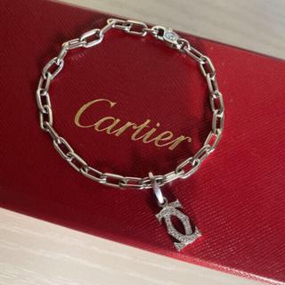 カルティエ(Cartier)の正規店購入❤︎カルティエ ❤︎スパルタカスブレスレットWG&2Cダイヤチャーム(ブレスレット/バングル)