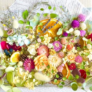 ドライフラワー花材セットNo.268⁑カラフルバラエティー❇︎盛り沢山
