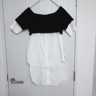 アメリヴィンテージ(Ameri VINTAGE)のAmeri VINTAGE レイヤードシャツプルオーバー(シャツ/ブラウス(半袖/袖なし))