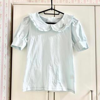 ミルク(MILK)のMILK フリル襟 カットソー サックス(カットソー(半袖/袖なし))