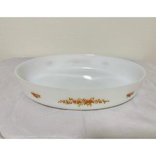 アルコパル ミルクガラス 大皿 アンティーク(食器)