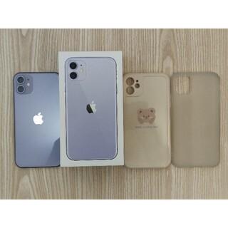 アイフォーン(iPhone)の【中古美品】iPhone11 パープル 64GB SIMフリー(スマートフォン本体)