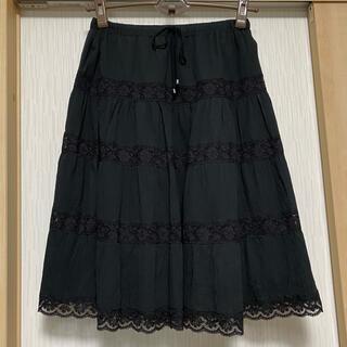 ドゥーズィエムクラス(DEUXIEME CLASSE)のドゥーズィエムクラス レースフレアースカート(ひざ丈スカート)