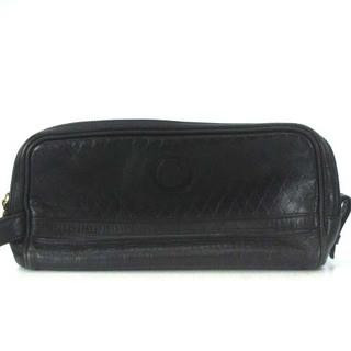 ジャンニヴェルサーチ(Gianni Versace)のジャンニヴェルサーチ ヴェルサーチェ セカンド バッグ ポーチ レザー 黒 鞄(セカンドバッグ/クラッチバッグ)