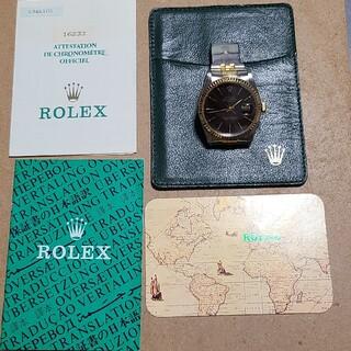 ROLEX - 希少 ロレックスデイトジャスト16233 タペストリー黒文字盤 ギャラ付き