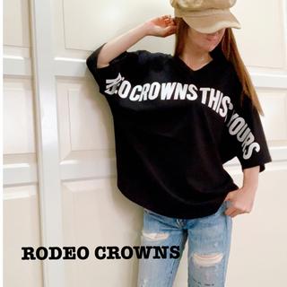 ロデオクラウンズワイドボウル(RODEO CROWNS WIDE BOWL)の【新品タグ付き】RCWB ★ ロデオクラウンズ 2WAY ワイド ロゴTシャツ(Tシャツ(半袖/袖なし))