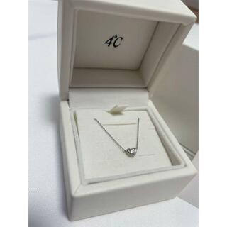 ヨンドシー(4℃)の【4℃】プラチナ ダイヤモンド ネックレス(ネックレス)