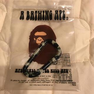 A BATHING APE - アベイシングエイプ  カモ柄 カラビナ