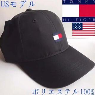 トミーヒルフィガー(TOMMY HILFIGER)のレア 新品 トミーヒルフィガー USA 黒 キャップ ゴルフ(キャップ)