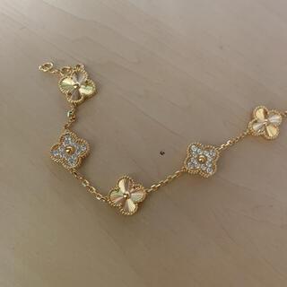 CZダイヤ&彫り柄ブレスレット