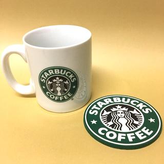 Starbucks Coffee - Starbucks スターバックス 旧ロゴ マグカップ コースター セット