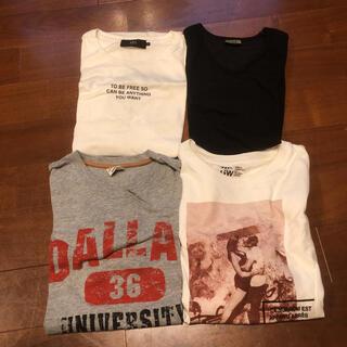 AZUL by moussy - AZUL グローバルワーク Tシャツ 4枚セット お買い得