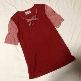 ピンクハウス(PINK HOUSE)のピンクハウス ロゴ リボン Tシャツ M(Tシャツ(半袖/袖なし))