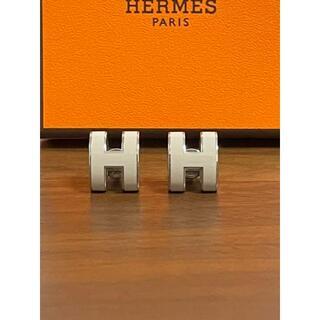 Hermes - エルメス ピアス ポップH マロングラッセ×シルバー