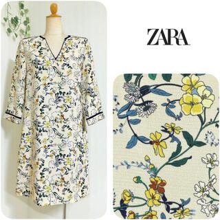 ZARA - ZARA ◆ ボタニカルプリントワンピース ◆ 新品未使用  花柄
