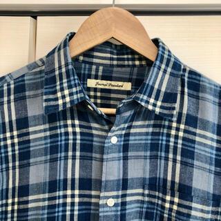 JOURNAL STANDARD - Journal Standard インディゴ染チェックシャツ Mサイズ