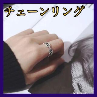 リング シルバー チェーン フリーサイズ ユニセックス シルバーアクセ 指輪