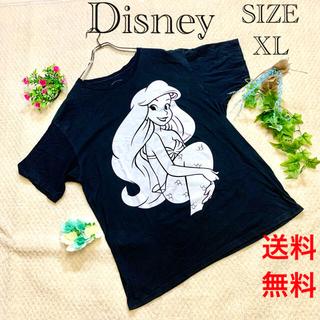 Disney - ディズニー リトルマーメイド Tシャツ ブラック ゆるダボ SIZE  XL