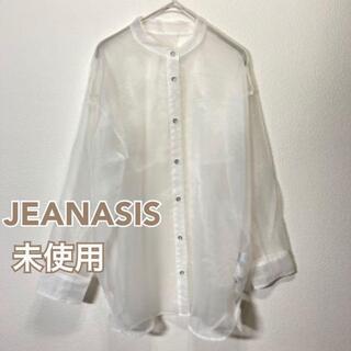 ジーナシス(JEANASIS)の☆未使用☆ JEANASIS シアーバンドカラーシャツ レディース FREE(シャツ/ブラウス(長袖/七分))