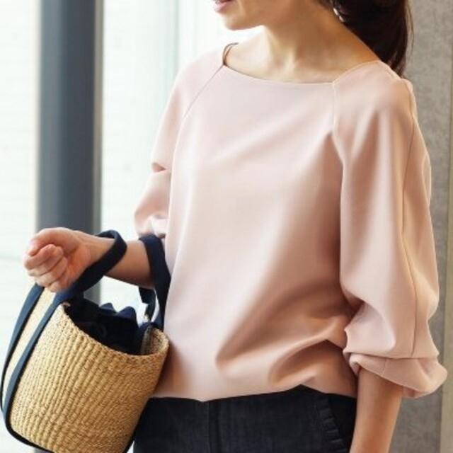 IENA(イエナ)のイエナ ♡ スクエアネックブラウス ♡ ピンク レディースのトップス(シャツ/ブラウス(長袖/七分))の商品写真