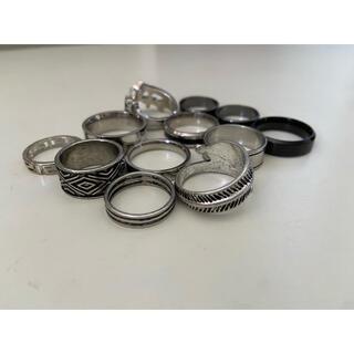WEGO 指輪 メンズ リング シルバー ブラック