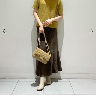 ノーブル(Noble)のNOBLE フェイクスウェードスカート ブラウン 38サイズ(ロングスカート)