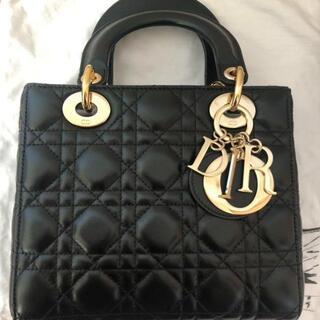 Dior - LADY DIOR MY ABCDIOR バッグ ブラック ゴールド金具