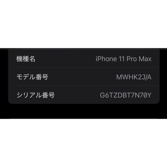 Apple(アップル)のiPhone11Pro Max256GB シルバーSIMフリー アップルストア スマホ/家電/カメラのスマートフォン/携帯電話(スマートフォン本体)の商品写真