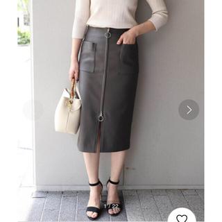 ノーブル(Noble)のNOBLE ダブルクロスフープジップタイトスカート(ひざ丈スカート)