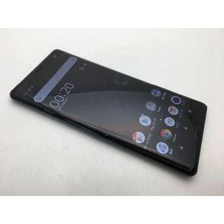 ソニー(SONY)の510 SIMフリー美品au Xperia XZ3 SOV39 グリーン(スマートフォン本体)