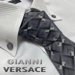Gianni Versace - ジャンニ・ヴェルサーチ ネクタイ【美品】パターン柄 グルカ模様 メデューサロゴ