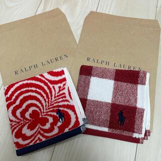 ラルフローレン(Ralph Lauren)のラルフローレン ミニタオル 赤柄物セット(タオル/バス用品)