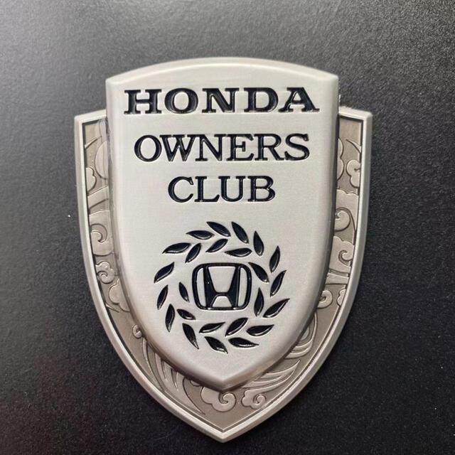 本田 Honda owners club ステッカー シルバー 自動車/バイクの自動車(車外アクセサリ)の商品写真