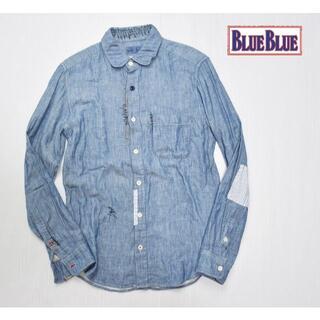 BLUE BLUE - BLUE BLUE リメイク パッチワーク長袖シャツ ハリラン