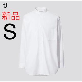 UNIQLO - 新品 ユニクロ +J スーピマコットンオーバーサイズスタンドカラーシャツ(長袖)