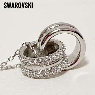 SWAROVSKI - 正規品❗美品✨SWAROVSKIスワロフスキー✨ペンダントネックレスサークル