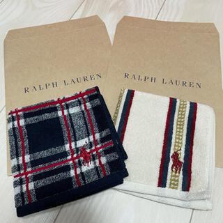 ラルフローレン(Ralph Lauren)のラルフローレン ミニタオル 青チェック ストライプセット(タオル/バス用品)