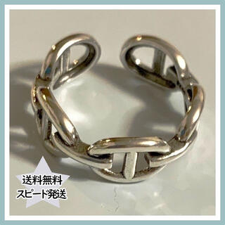 《No.34》チェーン 指輪 シンプル ペアリング シルバーリング 男女兼用